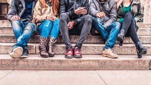 Un grupo de adolescentes.
