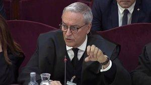Javier Melero, abogado de Joaquim Forn, durante una intervención en el Tribunal Supremo.