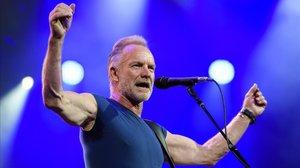 Sting, durante un concierto en junio del 2018.