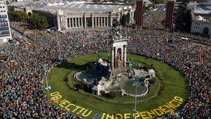 Imagen de la plaça Espanya.