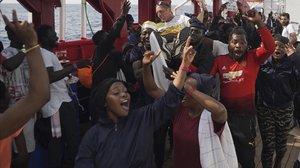 França, Alemanya, Itàlia i Malta pacten una proposta de repartiment d'immigrants