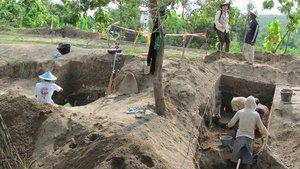 Yacimiento arqueológico en el que se encontraron los últimos restos de Homo erectus