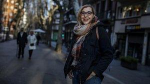 Sandra Vilaseca, la semana pasada en el Poblenou.