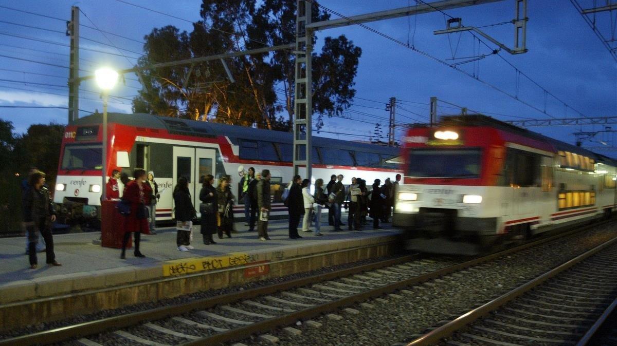 Trenes directos de Sitges a Barcelona.