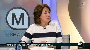 La presidenta de la ANC, Elisenda Paluzie, durante su entrevista en 'Els Matins'.