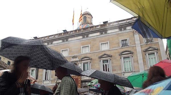 La Mercè, sota la pluja