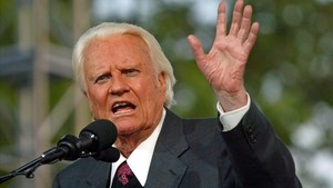 Billy Graham, en un discurso en Flushing Meadows Park, en Nueva York, el 25 de junio del 2005.