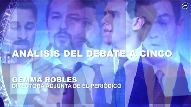 Gemma Robles analiza el debate a cinco antes de las elecciones del 10-N
