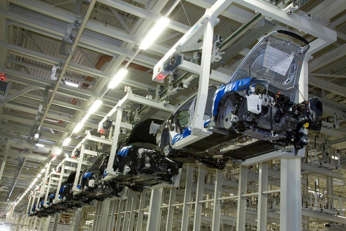 Planta de fabricación de coches de Skoda.
