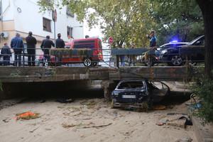Coche accidentado en Vilassar de Mar.