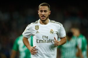 El futbolista del Madrid Eden Hazard.