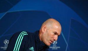 Zinedine Zidane este martes en rueda de prensa.