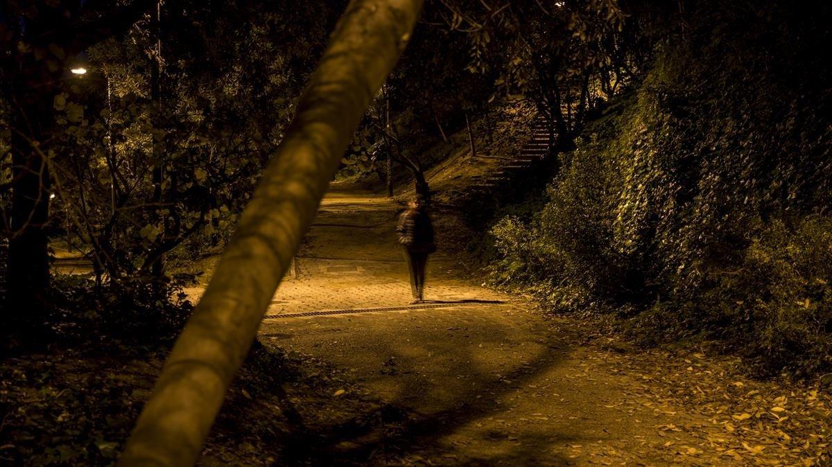 Pasaje de la Vinyeta, en Montjuïc, donde el violador del Poble Sec atacó a dos de sus víctimas.