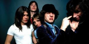 El grupo AC/DC en los años 70.