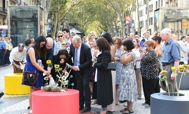 Acto de homenaje por los atentados del 17A en Barcelona y Cambrils.