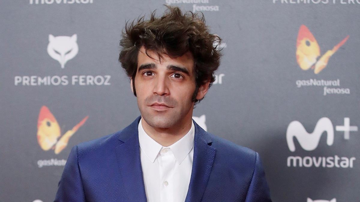 El actor David Verdaguer, nominado y presentador en los Premis Gaudí 2018, en la gala de los premios Feroz
