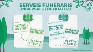 Ajudes pels serveis funeraris de Barcelona.