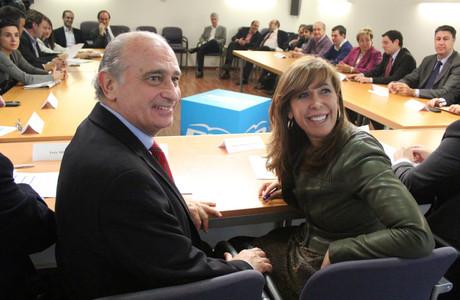 Alicia Sánchez-Camacho i Jorge Fernández Díaz, aquest matí a Barcelona.