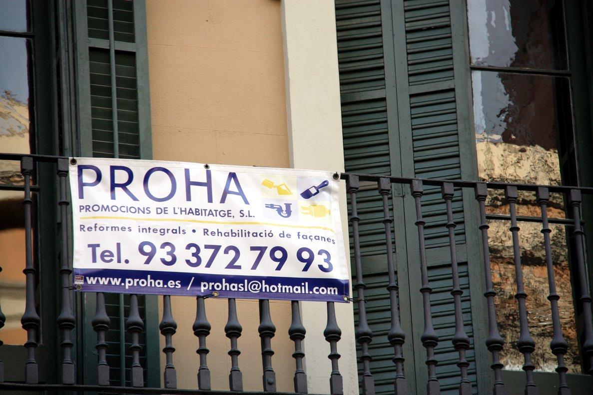 Imagen de archivo de una vivienda en alquiler en Barcelona.