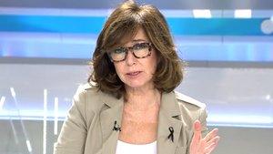 """Ana Rosa, contra los manifestantes de Vox que agredieron a periodistas: """"Que les enseñen qué es libertad de expresión"""""""