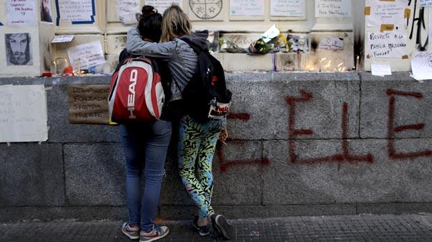 Protestas violentas en Argentina durante las elecciones.