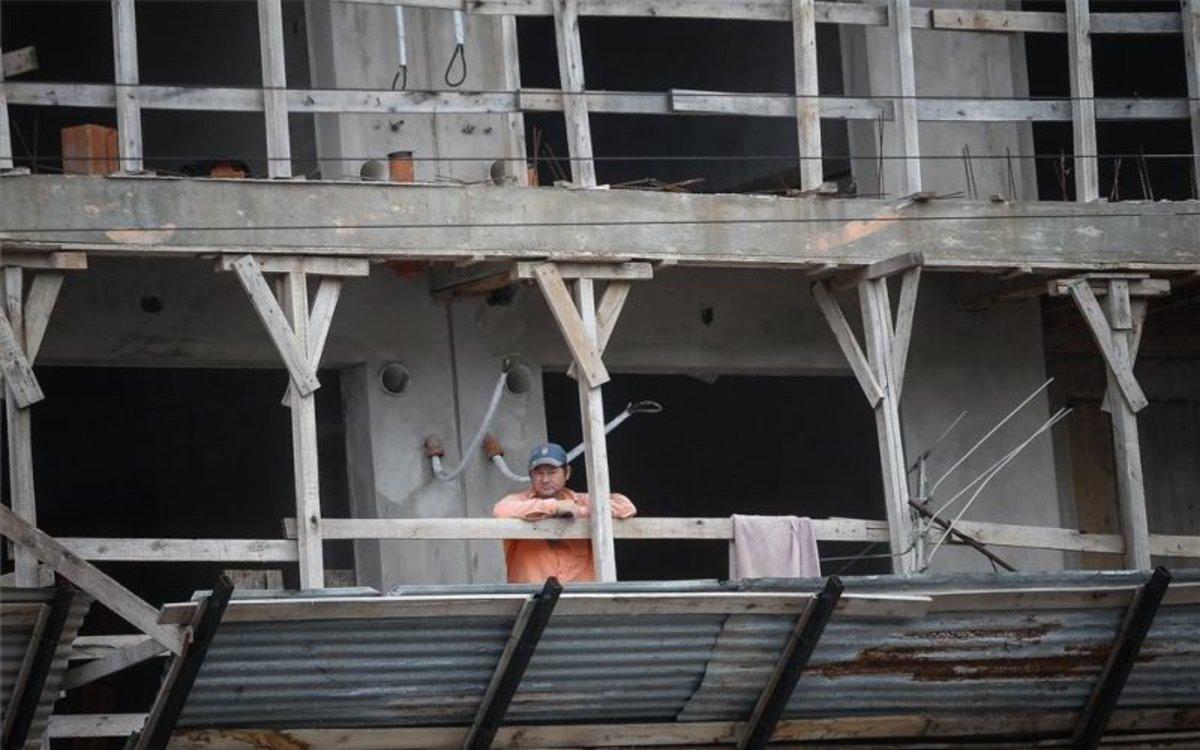 Una casa en construcción en Argentina.