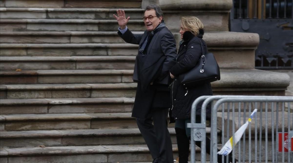 Artur Mas, a las puertas del Tribunal Superior de Justícia de Catalunya, el pasado 8 de febrero.