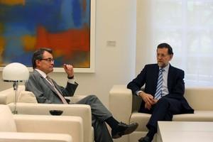 Artur Mas y Mariano Rajoy, el pasado 20 de septiembre, durante el encuentro que mantuvieron en la Moncloa.