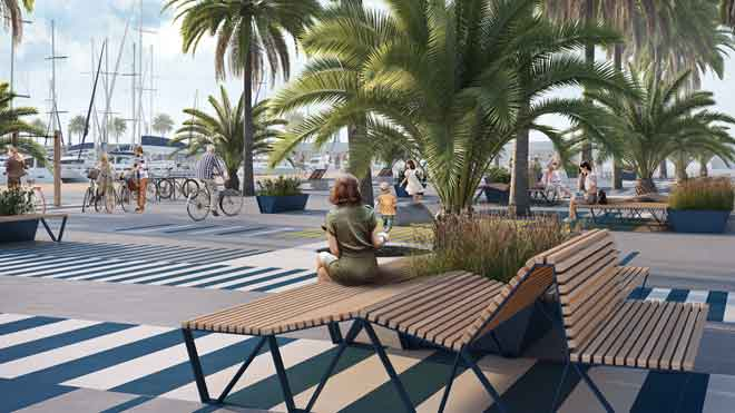 Así será el nuevo Port Olímpic de Barcelona.