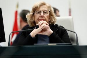 Manuela Carmena, durante unPleno del Ayuntamiento de Madrid.