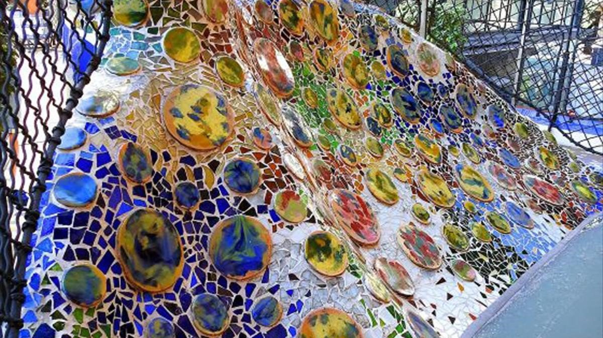 Barandilla del patio interior de la Casa Batlló.