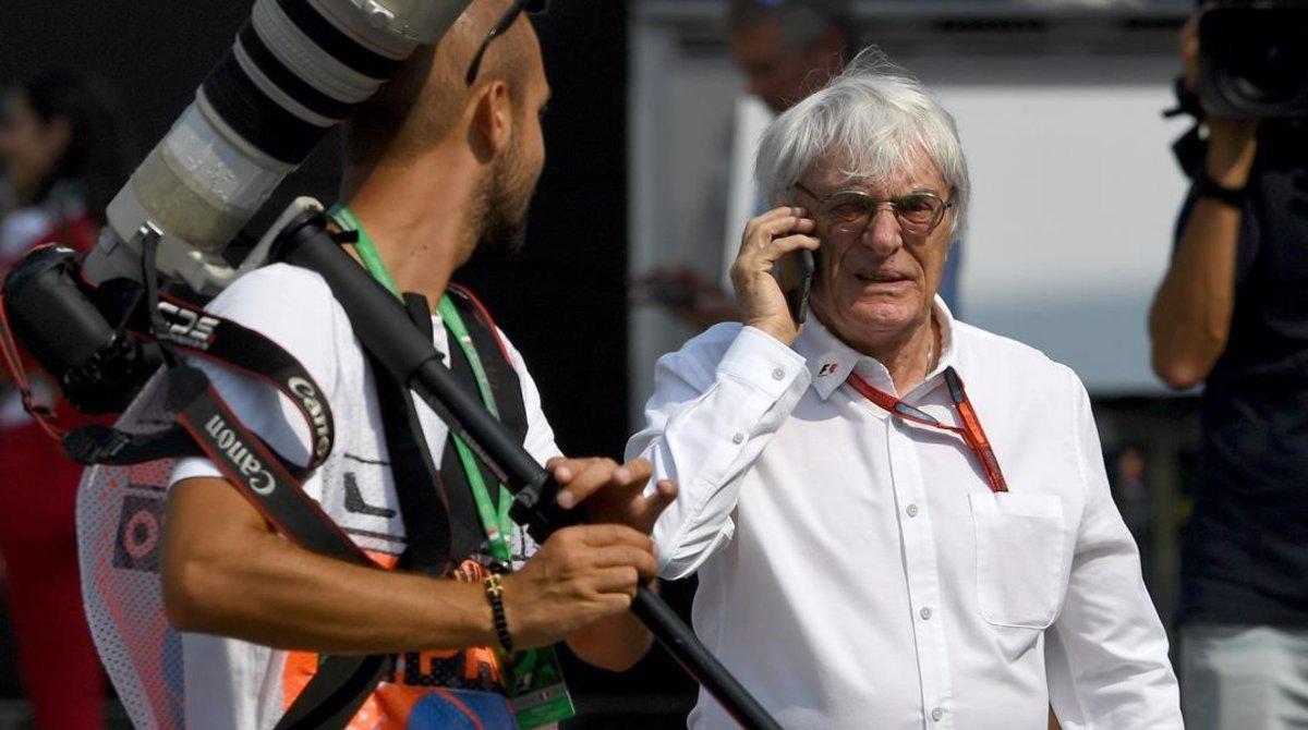 Bernie Ecclestone, en una imagen del 2016, en el Gran Premio de Italia, en Monza.
