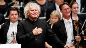 El director de la Orquesta Sinfónica de Londres, Sir Simon Rattle.