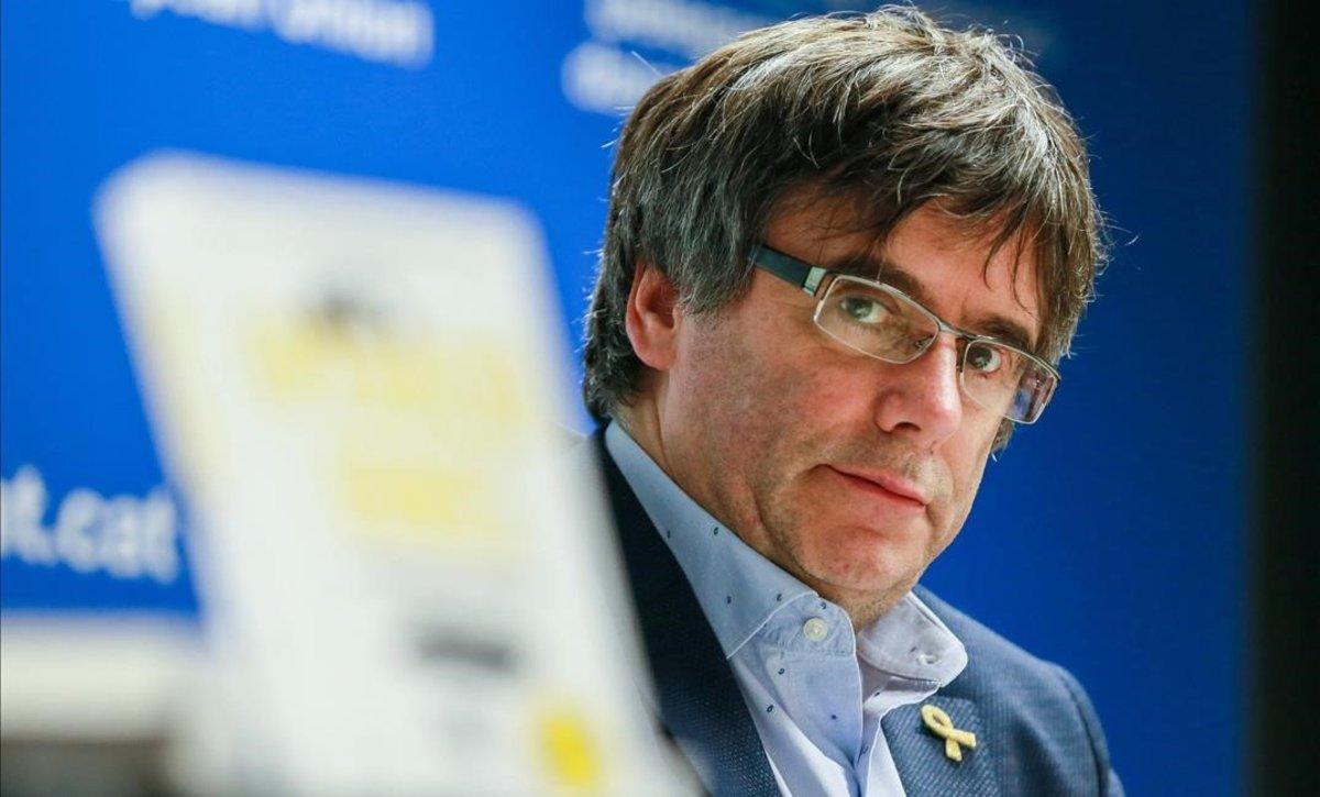 Carles Puigdemont, en la presentación de un libro en Bruselas, el pasado 31 de octubre.
