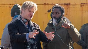 Christopher Nolan y John David Washington, en el rodaje de 'Tenet'
