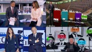 La cobertura de las cadenas generalistas para las elecciones generales de este domingo 10 de noviembre.