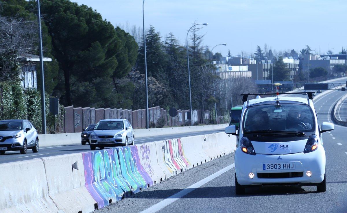 Pruebas del proyecto AUTOCITS en Madrid
