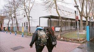 El colegio público Odon de Apraiz, en Vitoria, cerrado hasta nuevo aviso.