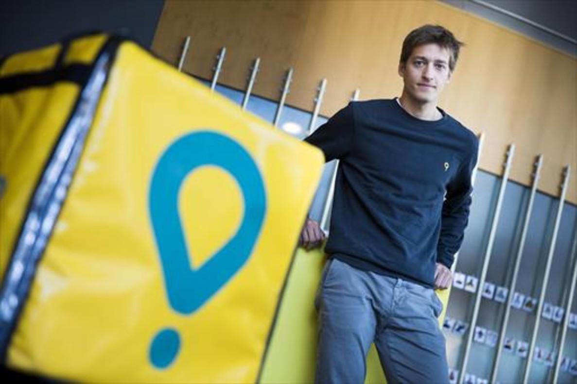 Óscar Pierre, en la sede de Glovo en Barcelona.