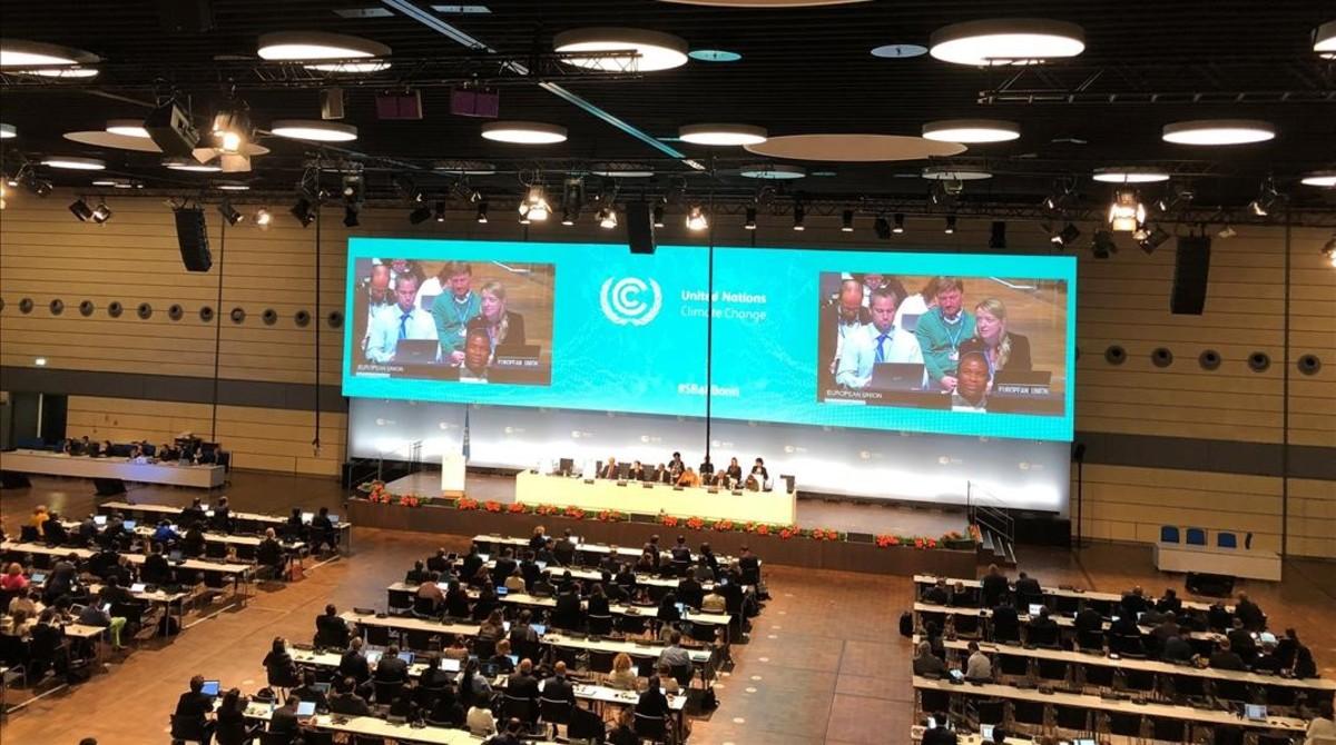 Vista de la sesión plenaria de la conferencia de Bonn.