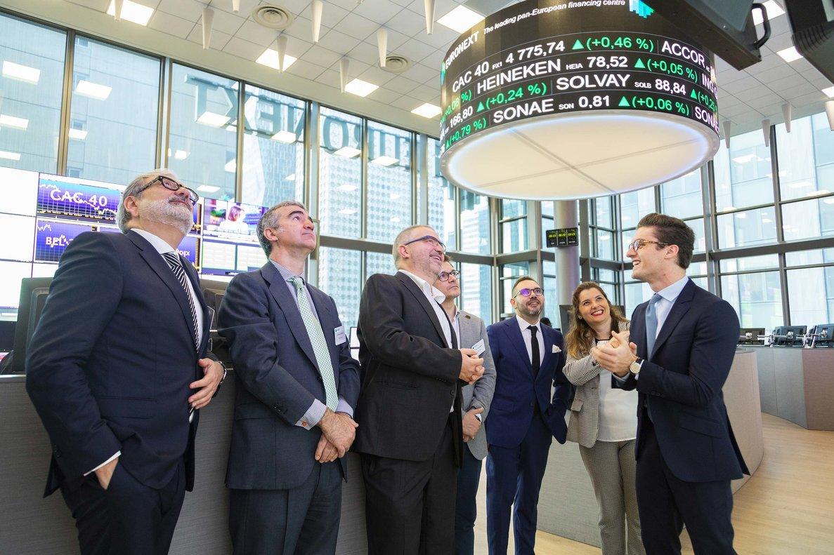 Debut de Lleida.net en el Euronext.