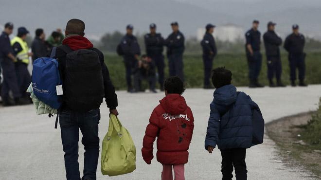 Desalojo de los refugiados del campamento de Idomeni en Grecia.