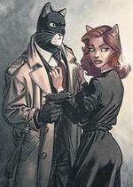 El detective John Blacksad, en una de las viñetas del cómic.