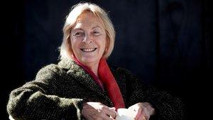 La escritora y académica Soledad Puértolas, en Barcelona.