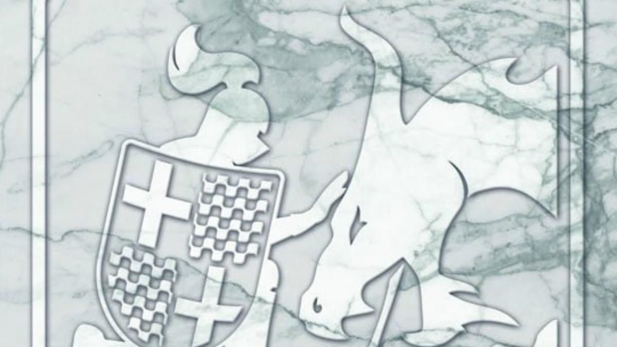 Sant Jordi domando al dragón independentista, nuevo escudo oficial de Tabarnia.
