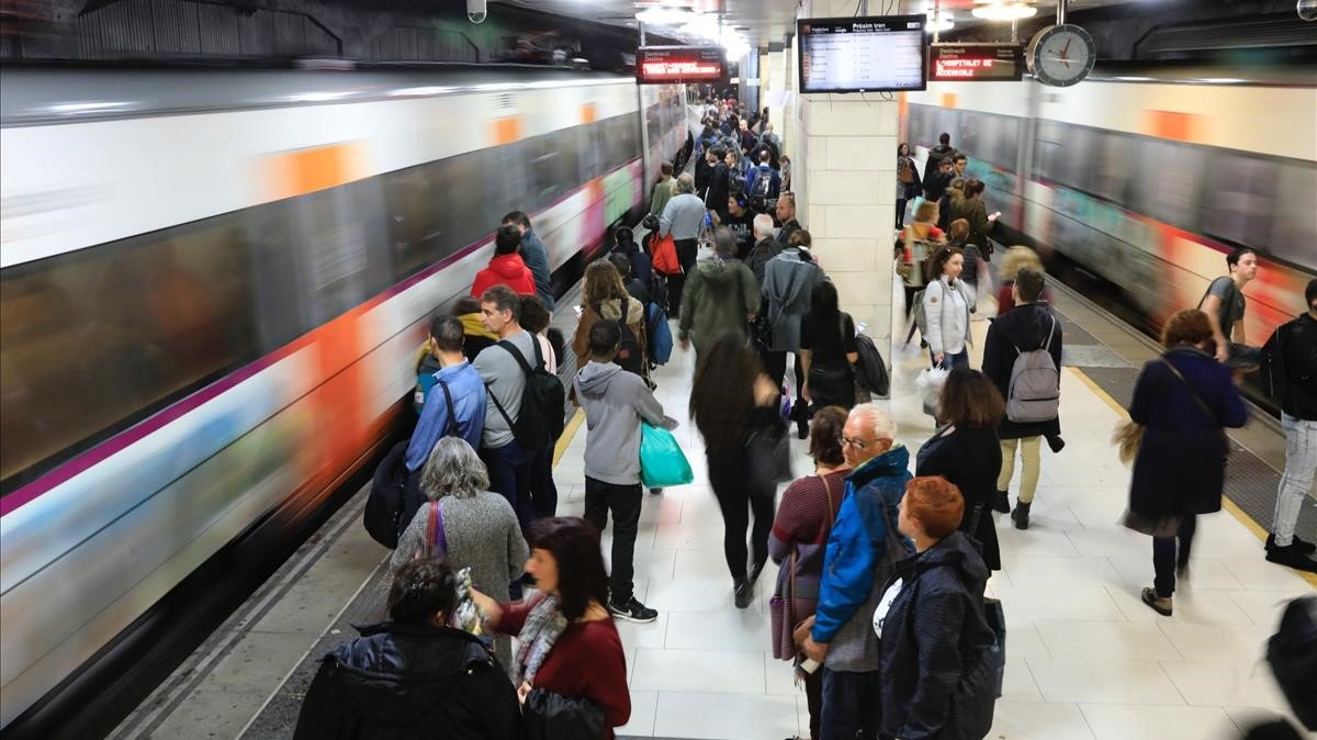 Estación de Rodalies de Plaça Catalunya, en Barcelona.
