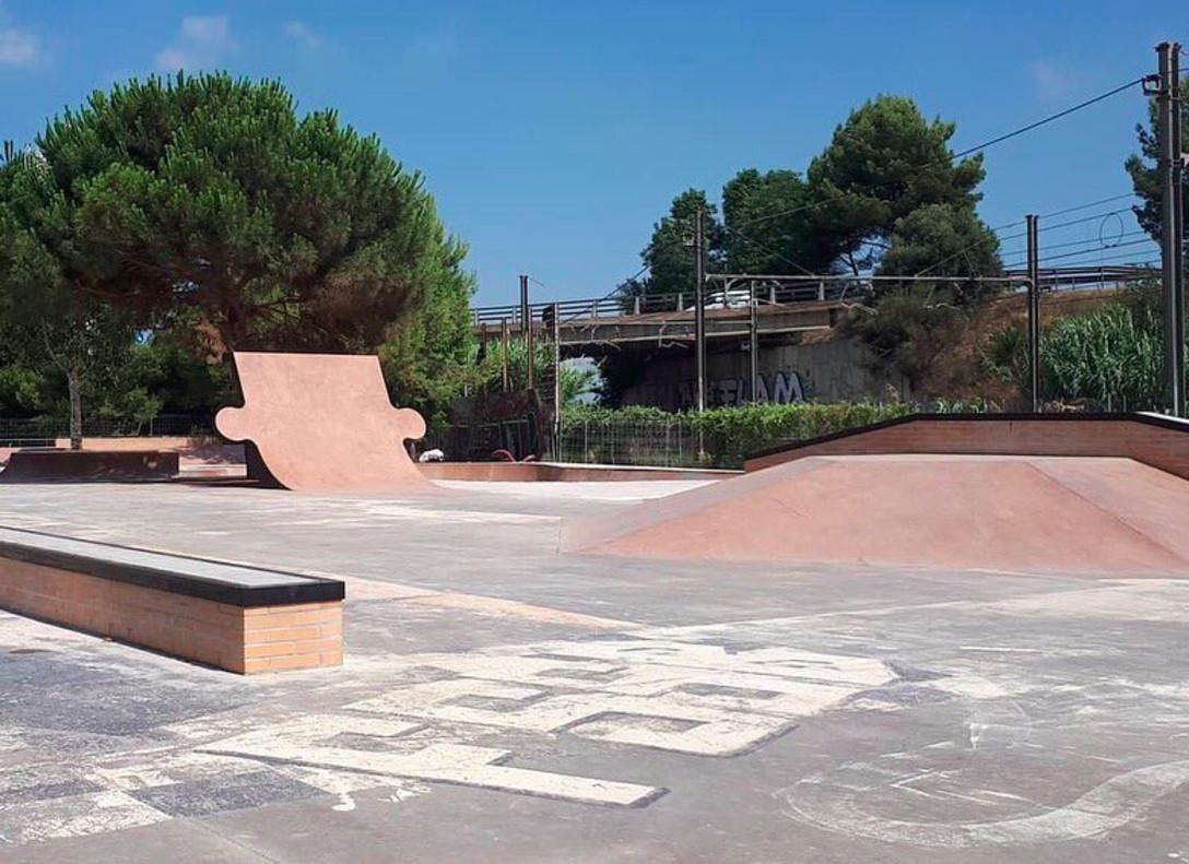 Estado actual del nuevo skatepark de Sant Boi