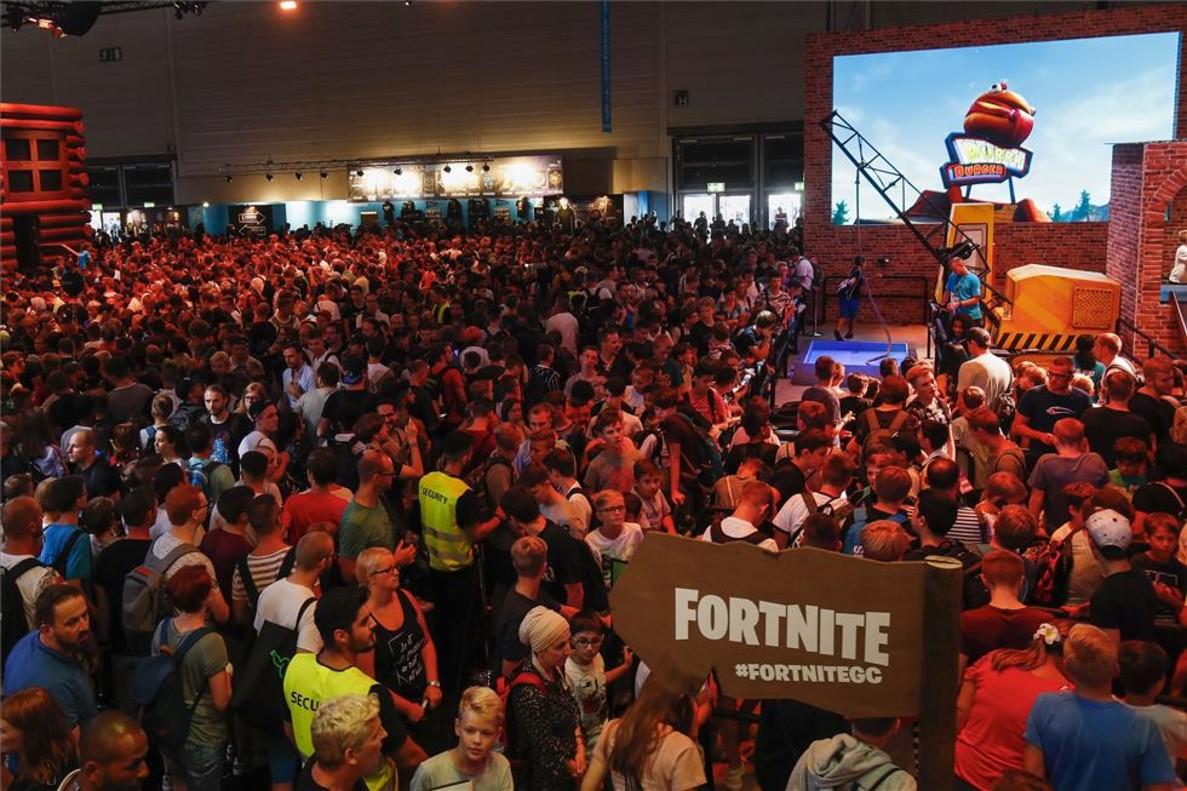 Estand de Fortnite en la feria Gamescom de Colonia, Alemania.