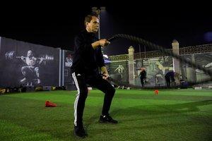 Ezzeldin Bahader, durante un entrenamiento.