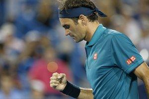 Federer acabó el partido con 58 puntos que sumó de los 42 logrados con el saque.